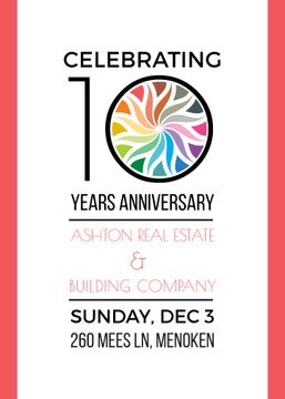10 years anniversary celebrating invitation