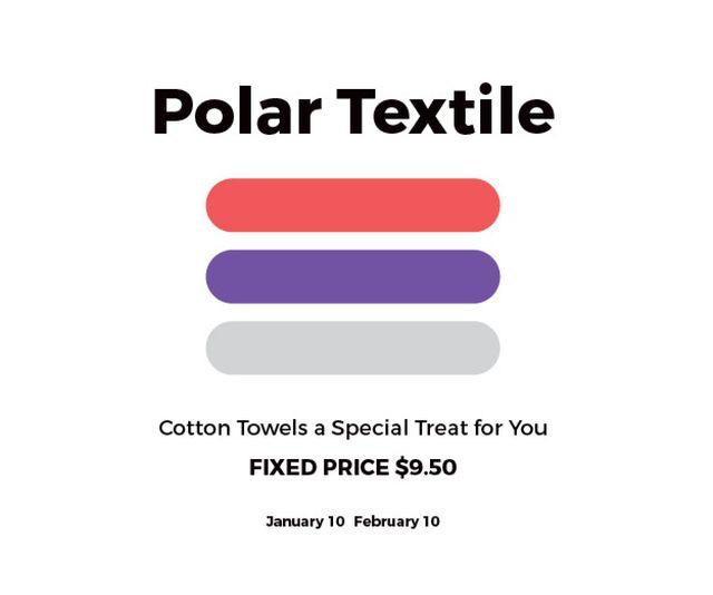 Plantilla de diseño de Polar textile shop Medium Rectangle