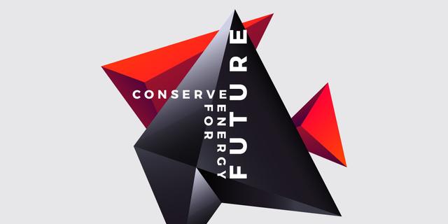 Ontwerpsjabloon van Image van Concept of Conserve energy the future