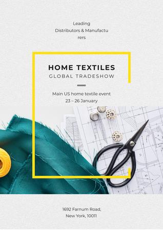 Home textiles global tradeshow Poster Design Template