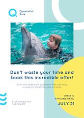 Dolphin Swim Offer Kid in Pool