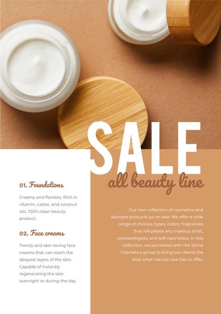 Natural Cream Special Sale Newsletter Design Template