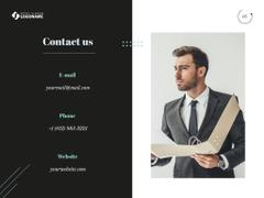 Business Inspiration with Man in Suit Holding Cup