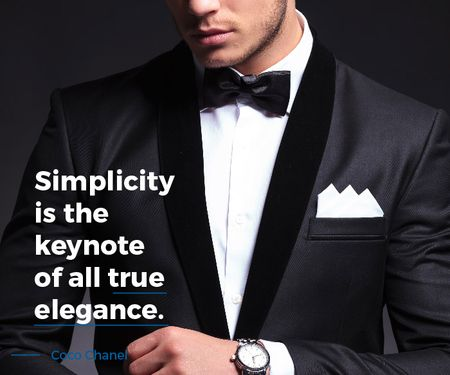 Ontwerpsjabloon van Large Rectangle van Simplicity is the keynote of all true elegance poster