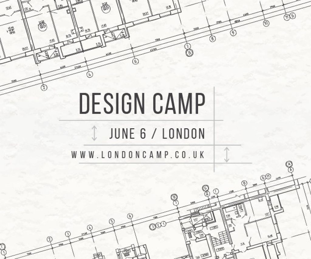 Design camp in London Medium Rectangle Design Template