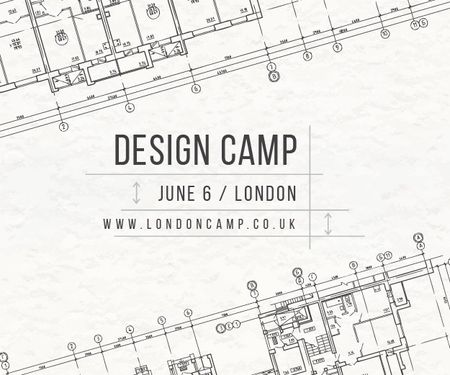 Plantilla de diseño de Design camp in London Medium Rectangle