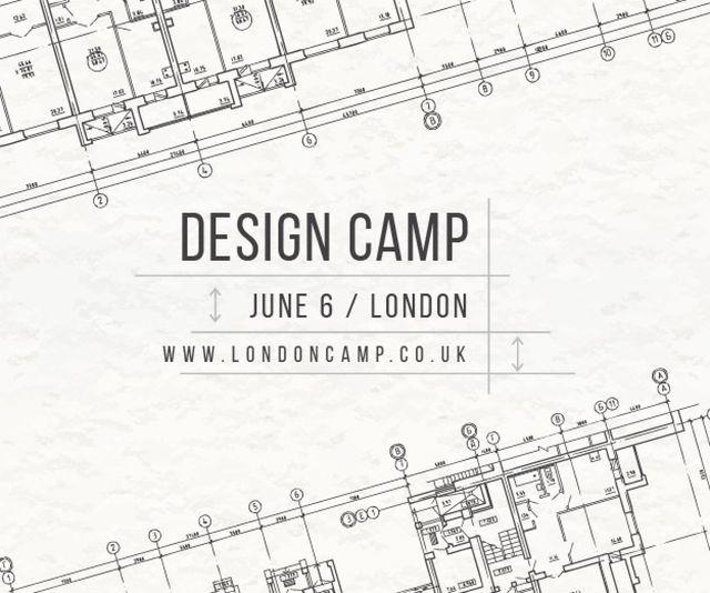 Ontwerpsjabloon van Medium Rectangle van Design camp in London