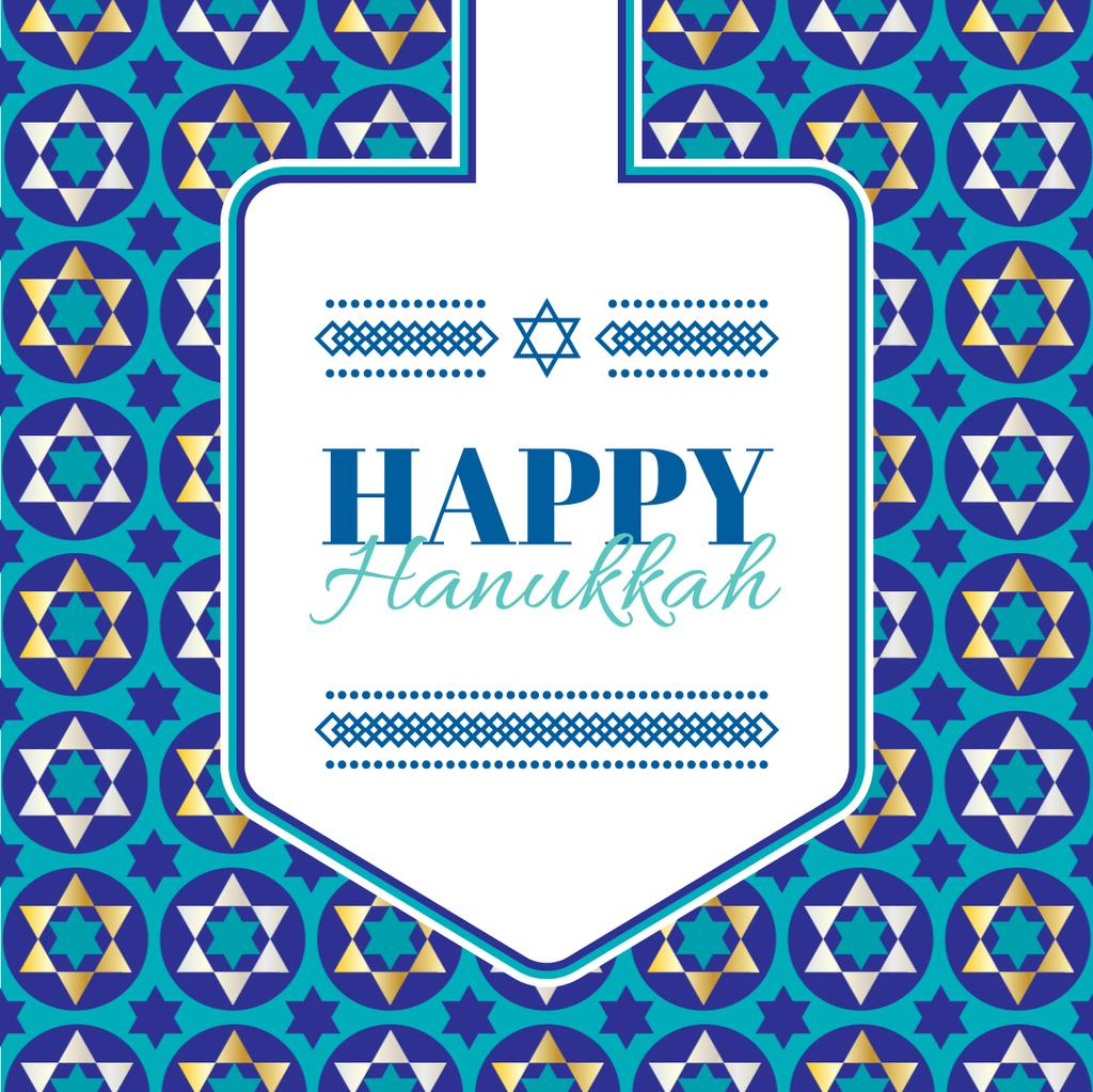 Happy Hanukkah Greeting With Star of David — Create a Design