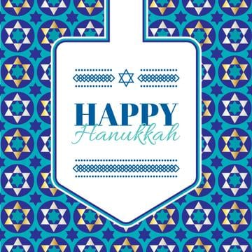 Happy Hanukkah Greeting With Star of David