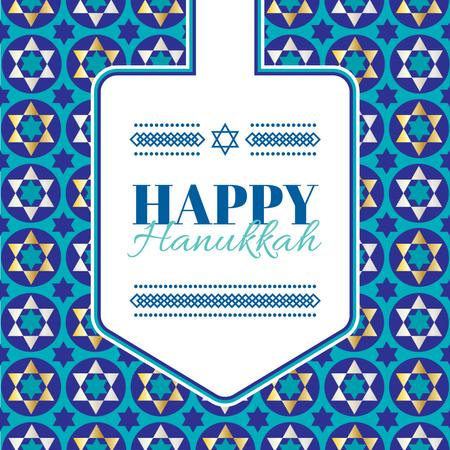 Template di design Happy Hanukkah Greeting With Star of David Animated Post