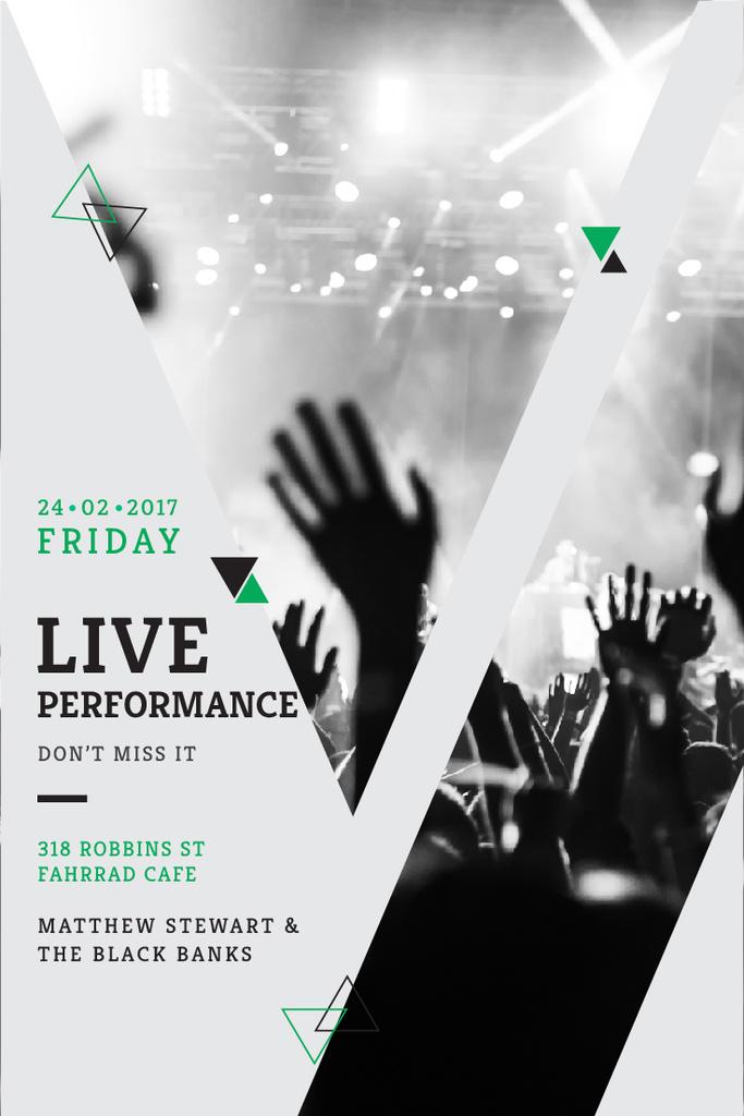 Live Performance Announcement with Crowd at Concert — Maak een ontwerp