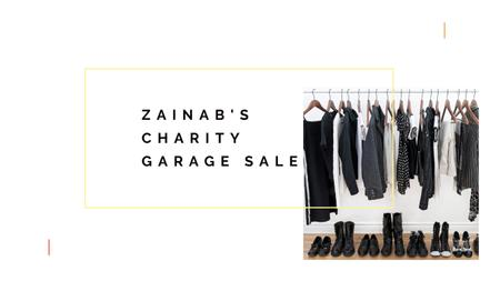 Charity Sale Announcement with Black Clothes on Hangers Youtube – шаблон для дизайну