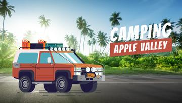 Adventure Tour Offer Car in Tropical Forest | Full Hd Video Template