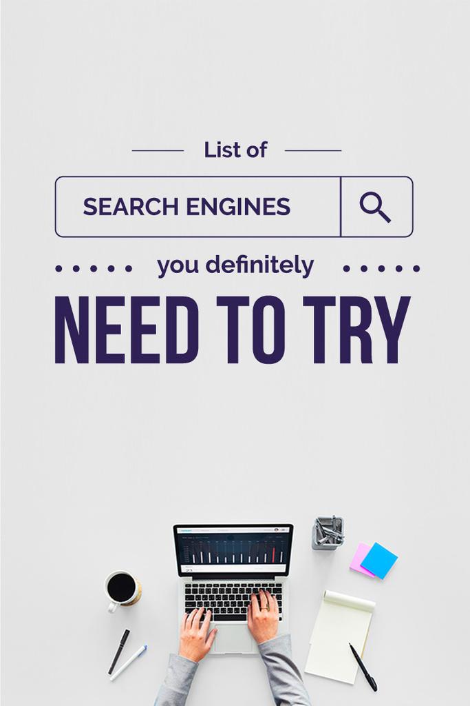 Search engines poster — ein Design erstellen