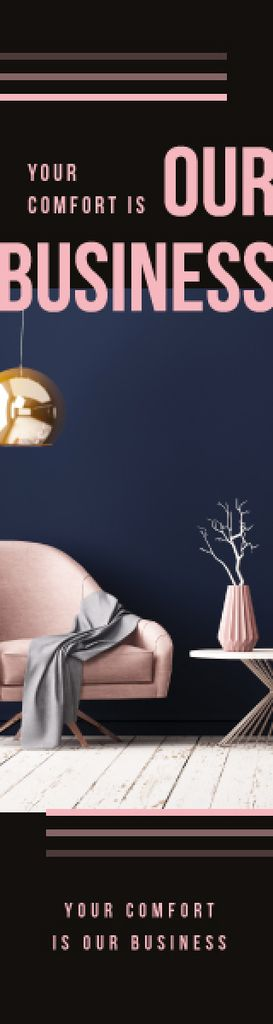 Furniture Studio Ad Cozy Modern Interior — Crear un diseño