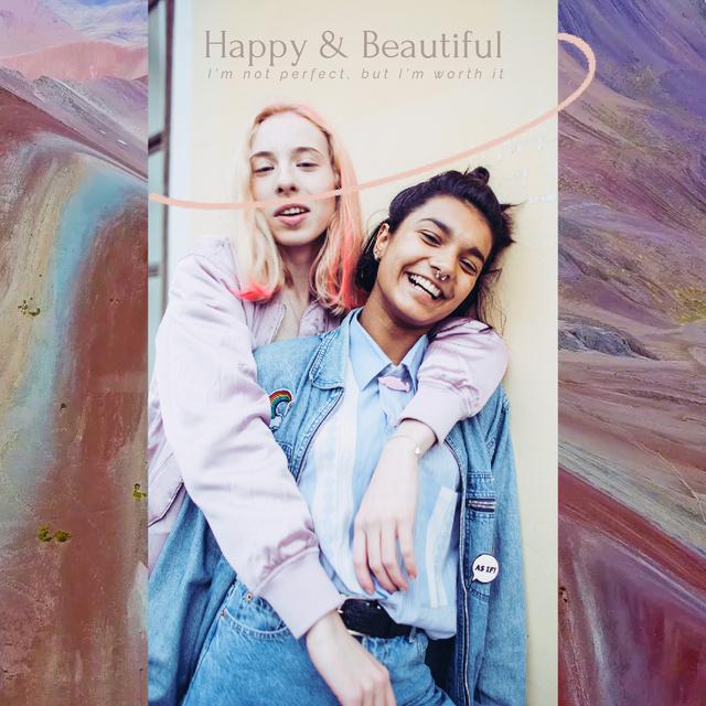 Two Stylish Girls hugging Animated Post Modelo de Design