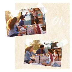 Happy Family at picnic