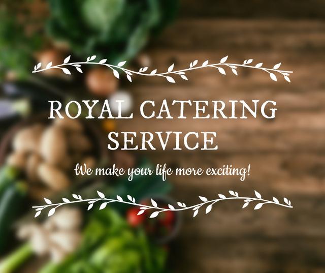 Catering Service Vegetables on table Facebook Modelo de Design