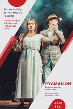 Theater Invitation Actors in Pygmalion Performance | Pinterest Template