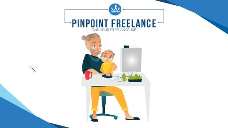 Template di design Freelancers working at home Full HD video