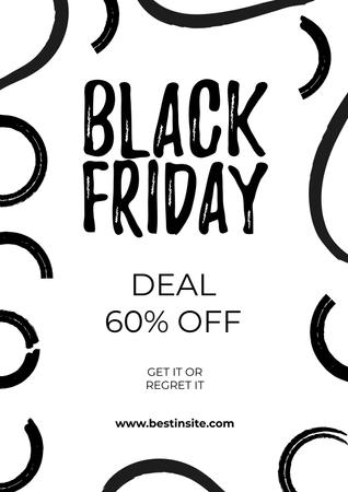 Template di design Black Friday deal Poster