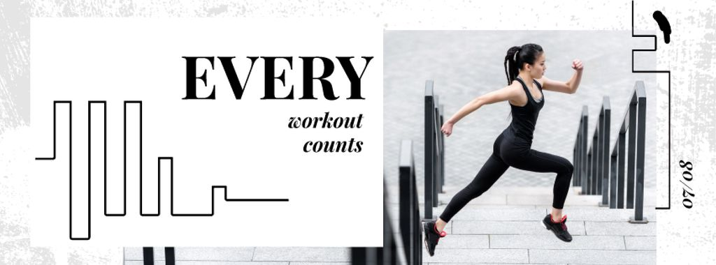 Workout Inspiration Girl Running in City — Crea un design