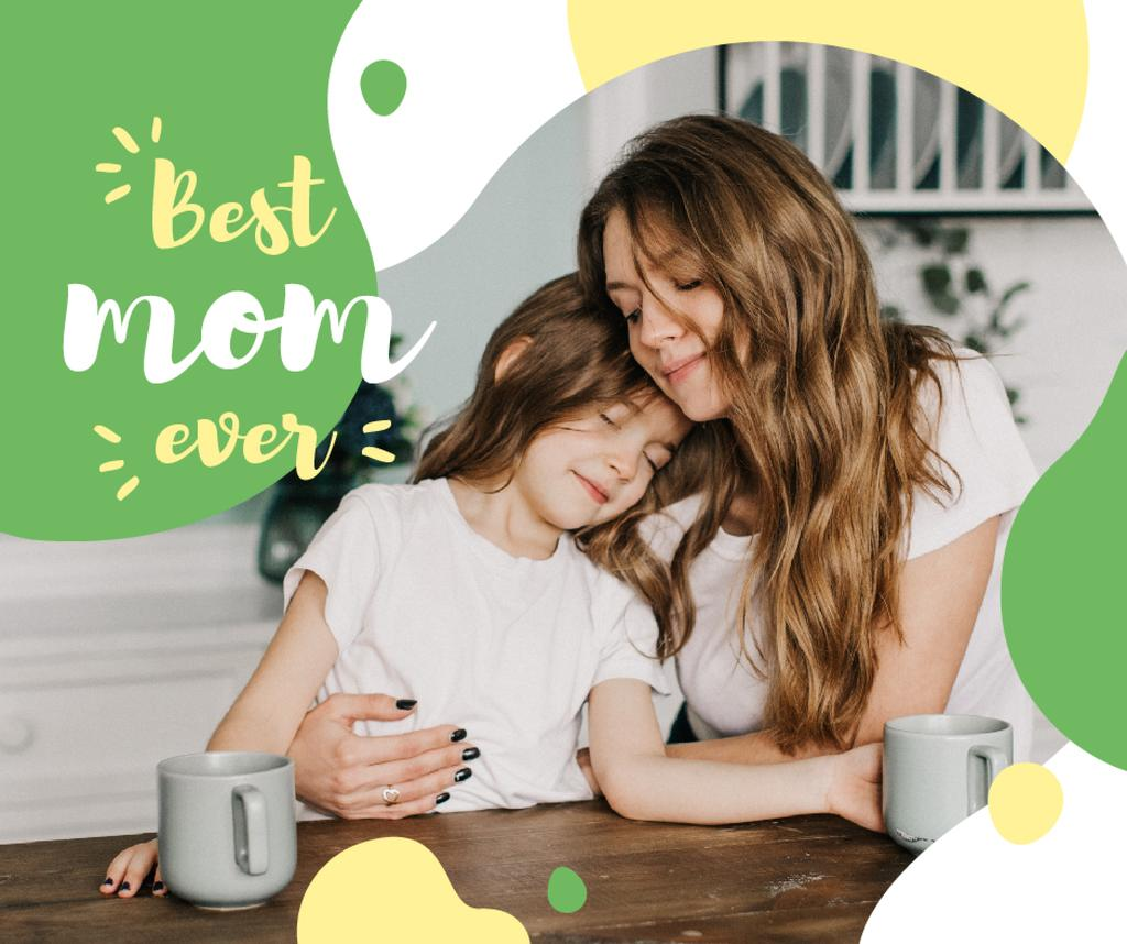 Happy Mom with daughter on Mother's Day — Создать дизайн