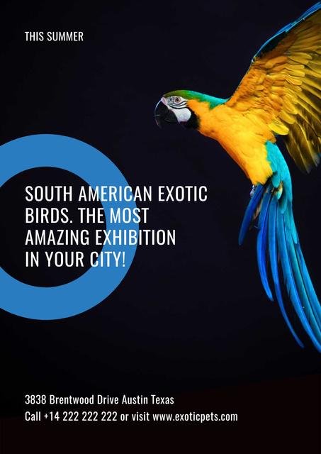 Designvorlage South American exotic birds shop für Poster