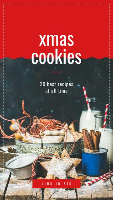 Christmas ginger cookies Instagram Story – шаблон для дизайна
