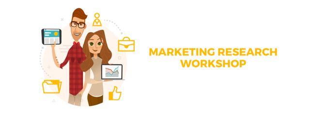 Szablon projektu Colleagues presenting Marketing report Facebook Video cover