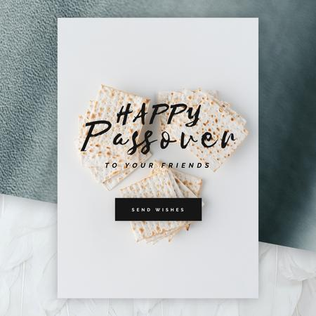 Plantilla de diseño de Happy Passover with Unleavened Bread Animated Post