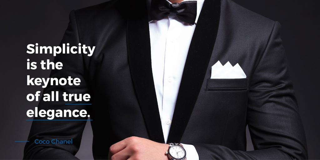 Fashion Quote Businessman Wearing Suit — Crear un diseño