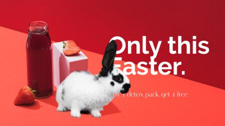 Designvorlage Detox Easter Offer with cute Rabbit für Full HD video