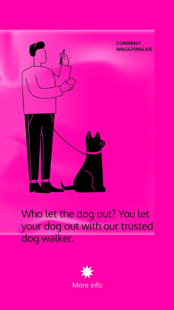 Dog Walking services with Man walking Pet — Створити дизайн