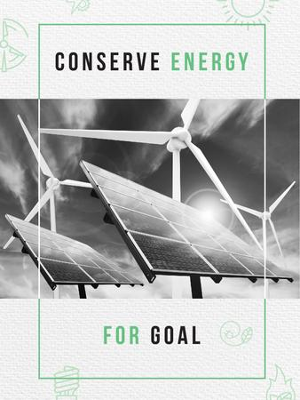 Szablon projektu Wind Turbines and Solar Panels Poster US