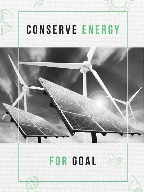 Template di design Wind Turbines and Solar Panels Poster US