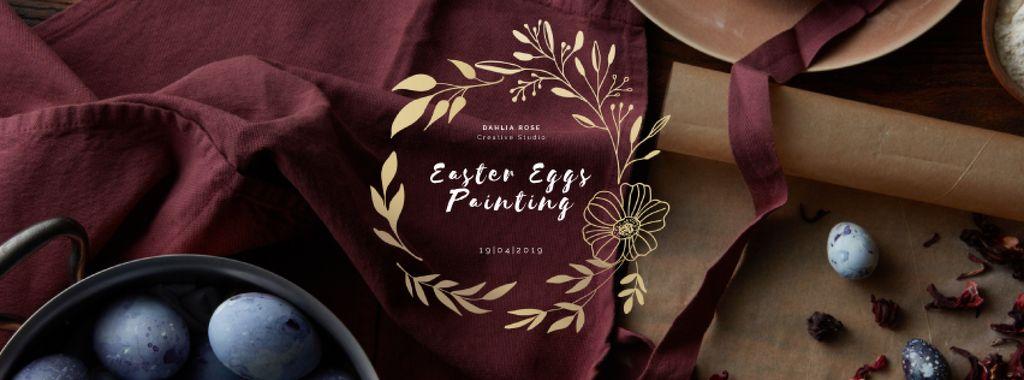 Coloring Easter eggs on kitchen — Créer un visuel