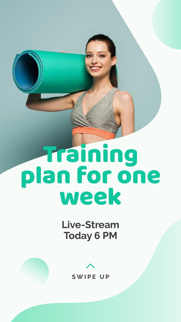 Live Stream about Yoga training plan — Maak een ontwerp
