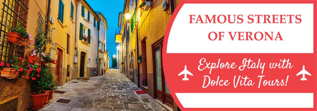 Tour Invitation with Verona Street View — Create a Design