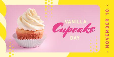 Ontwerpsjabloon van Image van Sweet vanilla cupcake