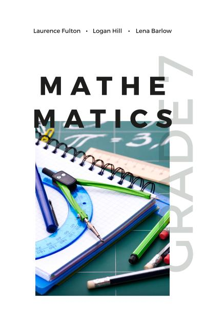 School Stationary and Compass Book Cover Design Template