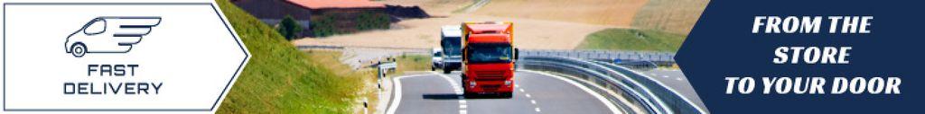 Delivery Promotion Trucks on a Road — Создать дизайн
