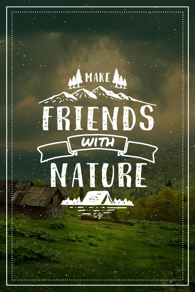 Make friends with nature poster create a design