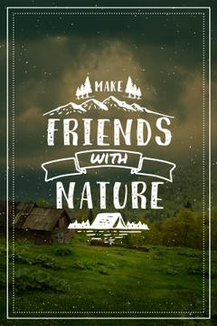 Nature Quote Scenic Mountain View | Tumblr Graphics Template