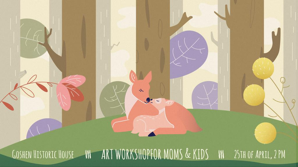 Deer embracing its kid — Create a Design