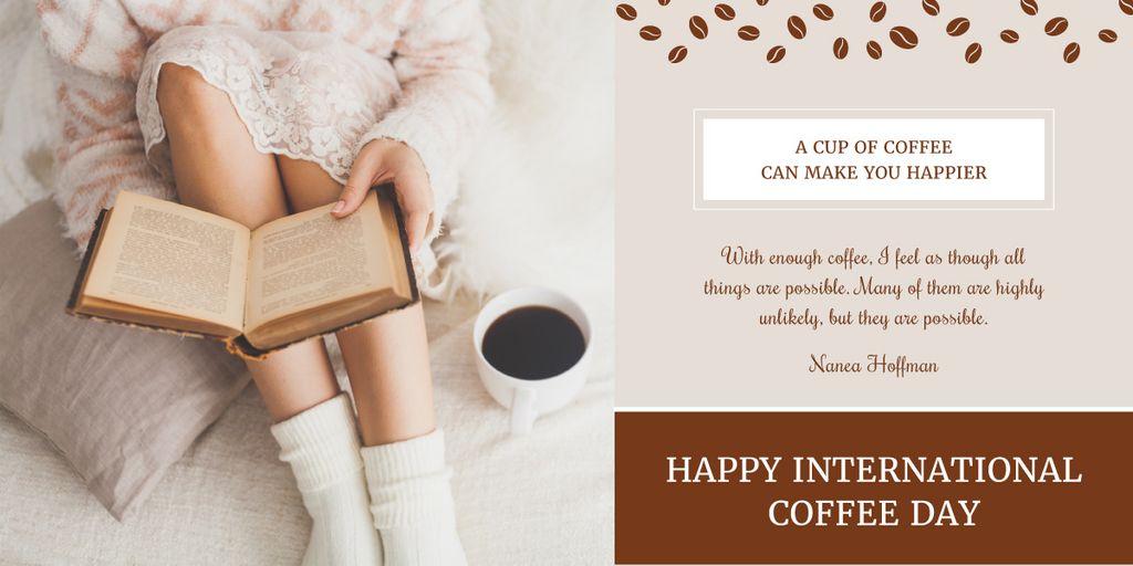 Ontwerpsjabloon van Image van Happy international coffee day poster