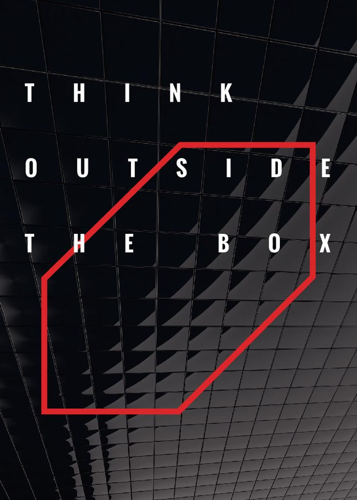 Think outside the box Quote on black tiles — Create a Design