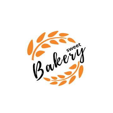 Bakery Ad Wheat Ears Wreath | Logo Template