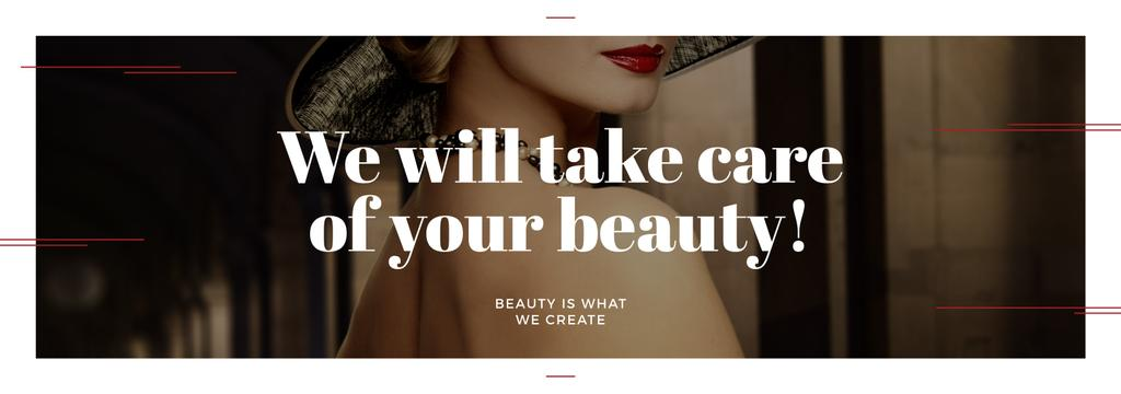 Beauty Services Ad with Fashionable Woman — Create a Design