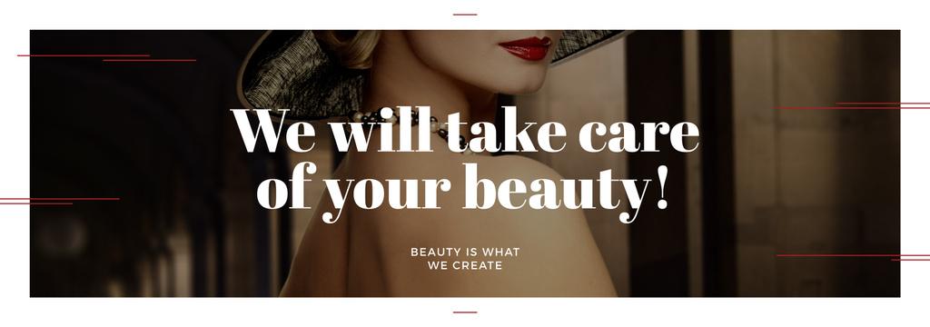 Beauty Services Ad with Fashionable Woman — ein Design erstellen